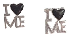 Other I Heart (Love) Me Silver Stud Earrings