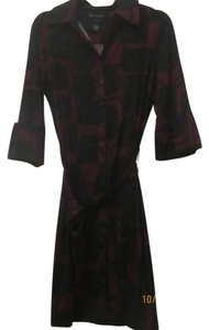 INC International Concepts short dress Maroon/Black on Tradesy