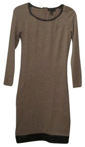 Mango short dress Beige/Black Trim on Tradesy