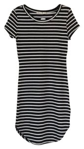 Heart & Hips short dress Black with white stripes on Tradesy