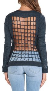 Chaser Scoop Neck Back Less Top Gray