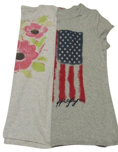Tommy Hilfiger Flag Flower Grey T Shirt gray