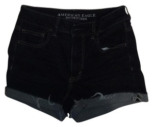 American Eagle Outfitters Cuffed Shorts Darkest wash