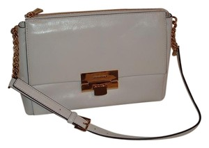 Michael Kors Leather White Gold Hardware Karlie Shoulder Bag