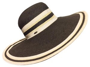 Scala Scala Floppy Wide Brim Straw Hat Black
