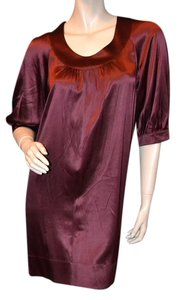 Vince short dress Burgundy Silk Sheath Sack on Tradesy