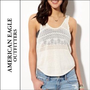 American Eagle Outfitters Ae Ae Pointelle Shirt Top