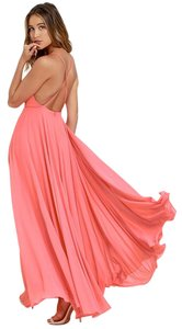 Coral Pink Maxi Dress by Mythical Kind