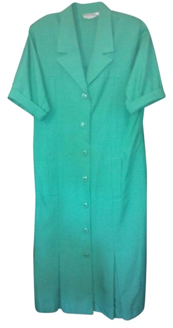 Item - Green Classic Mid-length Work/Office Dress Size 12 (L)