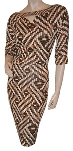 Diane von Furstenberg short dress Brown Print Multicolor Dvf Silk on Tradesy