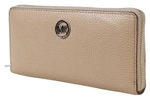 Michael Kors Michael Kors Fulton Dk Khaki Zip Around Continental Wallet
