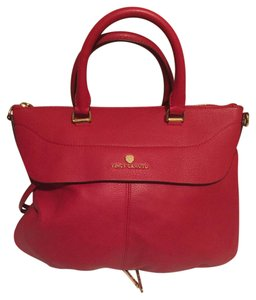 Vince Camuto Satchel in Habanero Red