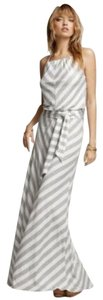 GRAY AND WHITE Maxi Dress by Michael Stars Halter Long Maxi