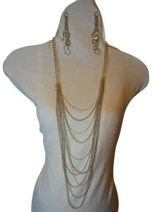 Robert & Rose Robert & Rose multi chain necklace + earrings & cuff bracelet