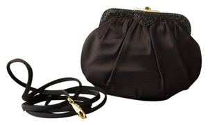 Judith Leiber Silk And Jet Black Clutch