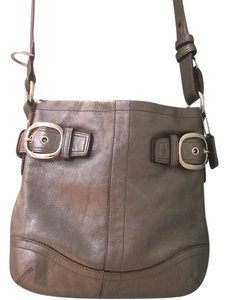 Coach Leather Hardware Shoulder Bag