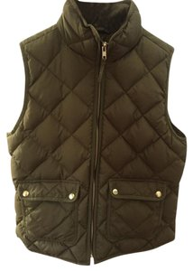 J.Crew Quilted Puffy Gold Zip Vest
