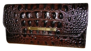 Brahmin Cocoa Brown Melbourne Leather Checkbook Wallet