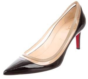 Christian Louboutin Patent Leather Pointed Toe Black, Clear Pumps