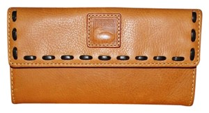 Dooney & Bourke Florentine Natural Continental Clutch Wallet