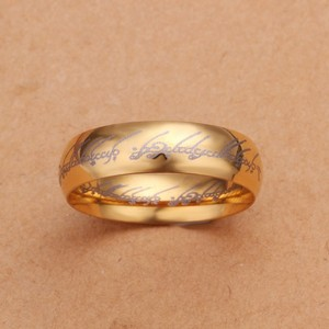 Unisex Gold Plated Stainless Steel Ring Free Shipping
