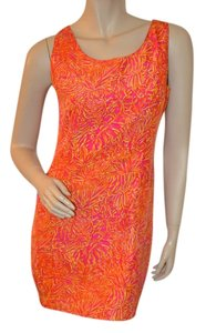 Lilly Pulitzer short dress Orange Silk Print Shift on Tradesy