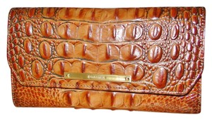 Brahmin Toasted Almond Melbourne Leather Checkbook Wallet