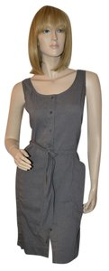 Eileen Fisher short dress Gray Pockets Linen on Tradesy