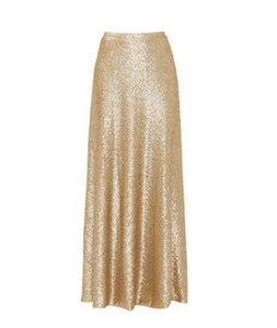 Lucy Paris Maxi Skirt Gold