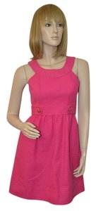 Shoshanna short dress Pink Cotton on Tradesy