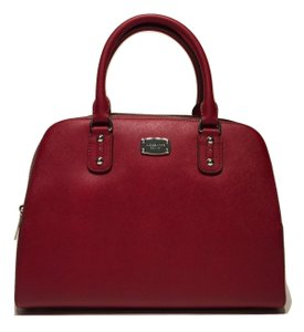 Michael Kors Large Satchel in Cherry Red