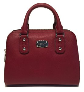 MICHAEL Michael Kors Small Satchel in Cherry Red