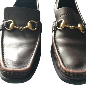 Gucci Horsebit Loafers Brown Flats