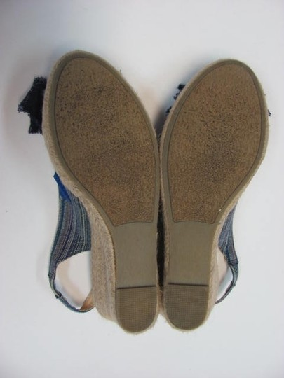 Rampage New Size 7 M Very Good Condition BLUE, TAN Wedges