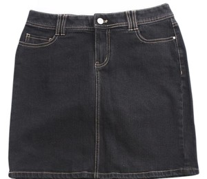 White House | Black Market Dark Jean Pencil Mini Skirt Blue