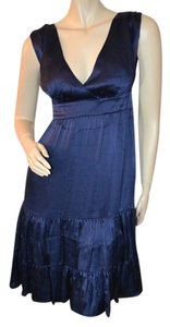 Lilly Pulitzer short dress Navy Silk Nwt on Tradesy