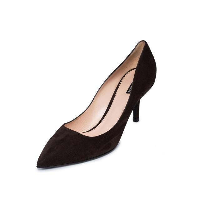 Item - Brown New Women Genuine Suede Leather Mid-heel Pointed Pumps Size US 11 Regular (M, B)