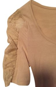Zenana Outfitter Top Beige lace