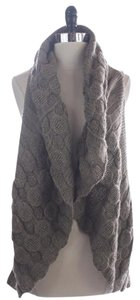 Others Follow Ava Taupe Brown Alpaca Knit Vest Sweater