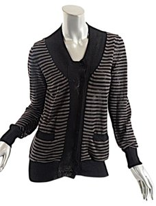 Fendi Linen Stripe Cardigan