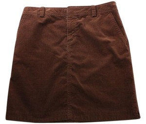 Lilly Pulitzer Fine Corduroy Pencil Size 4 Mini Skirt Brown
