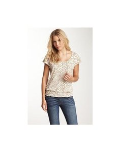 Lucky Brand Animal Print Casual T Shirt