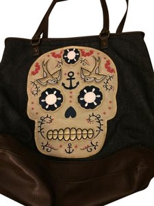 03c89cc5cc Loungefly  day Of The Dead Tote in Sugar skull on denim