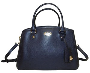 Coach Nwt New Crossgrain Satchel in Navy