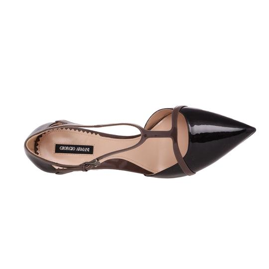 Giorgio Armani Black Ga Genuine Leather Pointed Toe T ...
