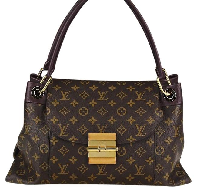 Item - Olympe Retired Discontinued Sold Out Monogram and Quetsche Shoulder Bag