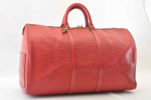 Louis Vuitton Red Travel Bag