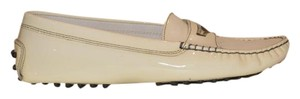 Tod's Patent Patent Leather Comfortable White Flats
