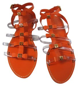 Tory Burch Bows Flat Gladiator ORANGE Sandals