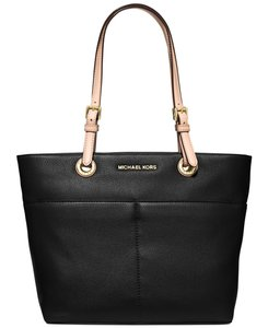 Michael Kors 30h4gbft6l Bedford Mk Leather Tote in BLACK